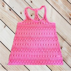Joe Boxer Swim Cover Up Pink Lace Size S(6/6X)